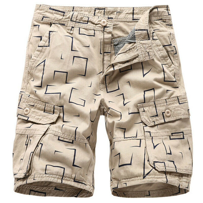 Mens Cargo Combat Work Shorts Trousers Army Military Hiking Camping Half Pants 4