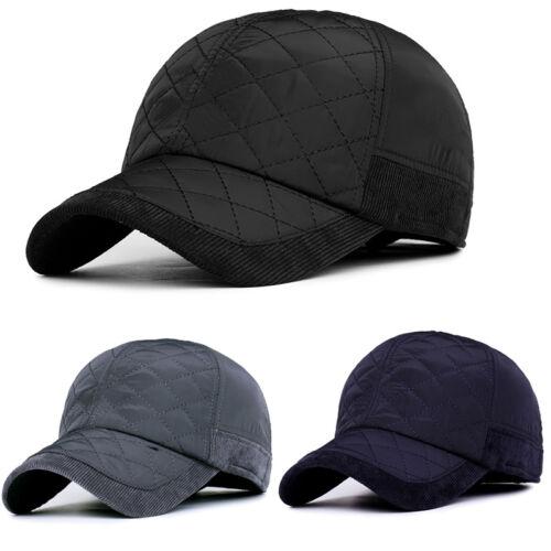 74e2621a289e8 1 of 10FREE Shipping Adjustable Mens Winter Warm Earflap Earmuffs Baseball  Cap Golf Sport Outdoor Hat