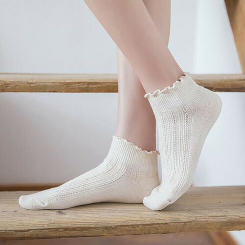 Spring Fashion Women Solid Color Thin Section Curling Summer Socks Loose Socks N 3