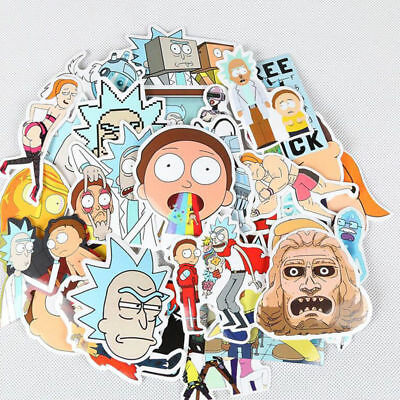 35Pcs Rick and Morty Car Sticker Decal Style Character Decoration Paper 2