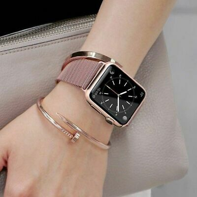 For Apple Watch Band 42mm 38mm 44mm 40mm Series 5/4/3/2 Milanese Stainless Steel 12