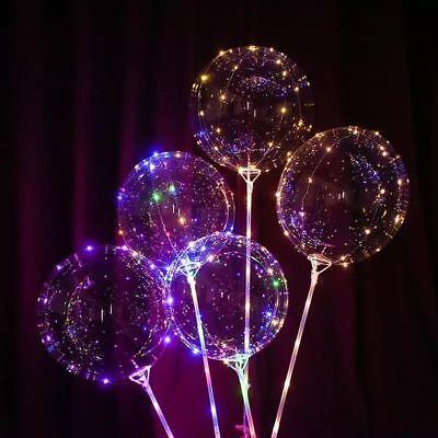 LED Light  Transparent Balloon Wedding Birthday Xmas Party Lights Decoration 5