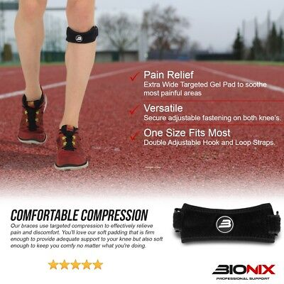 Adjustable Patella Tendon Strap Knee Support Jumpers Runners Pain Band Brace NHS