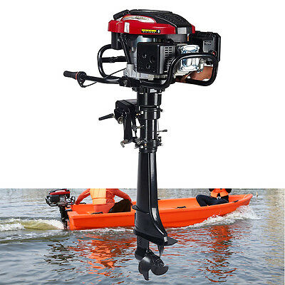 7 HP 4-Stroke Outboard Motor Transom Mount Boat Engine Air Cooling 196CC 3