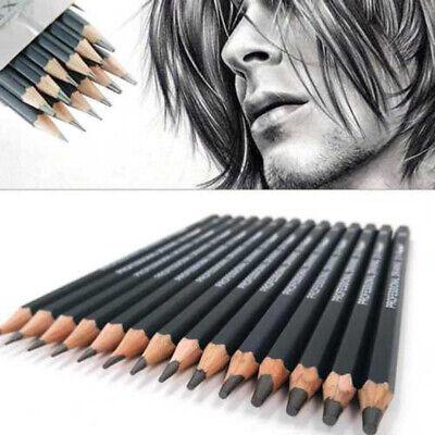 14*Sketch Art Drawing Pencil Sets 12B 10B 8B 7B 6B 5B 4B 3B 2B 1B HB 2H 4H 6H UK 2