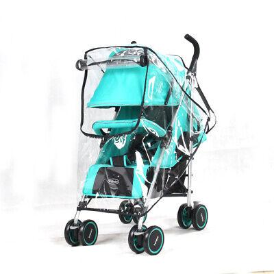 Universal Buggy Rain Cover Baby Pushchair Stroller Pram Buggy Clear Raincover UK 9