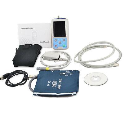 Ambulatory Blood Pressure Patient Monitor Oximeter SPO2 NIBP + 4 Cuffs+ Software 6