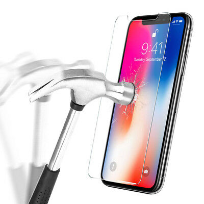 100% Protection Verre trempé écran + Coque iPhone Xs Max XR X 8 Plus 7 6s 5s SE 8