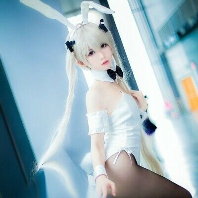 In solitude Kasugano Sora Cosplay Bunny Dress Girl Black Suit Costume Women New