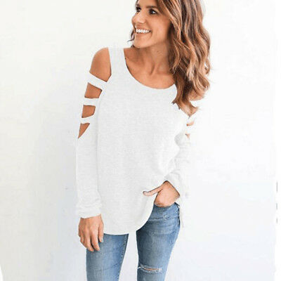 Womens Long Sleeve Loose Blouse Tops Ladies T-Shirt Pullover Jumper Plus Size