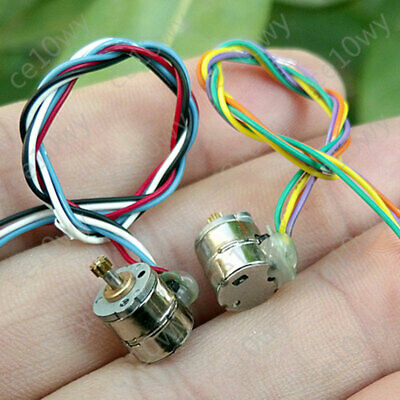 2x 8mm Mini Stepper Motor 2-phase 4-wire Micro Stepping Motor 0.2Mod 9T Gear 9