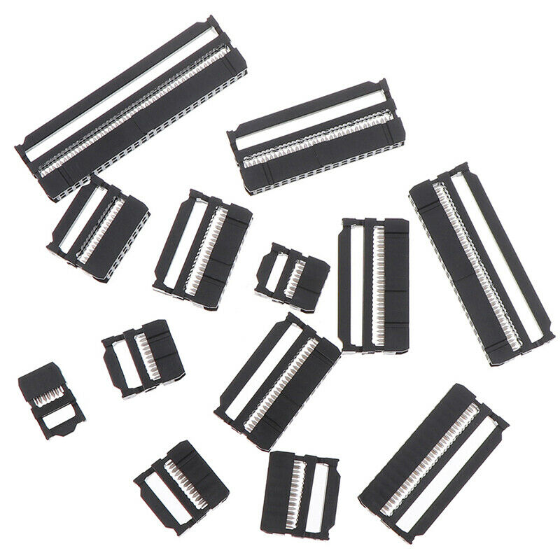 10x 6/8/10/12/14-50Pin IDC Socket Plug Ribbon Cable Connector 2.54mm Pitch xiSBF 5