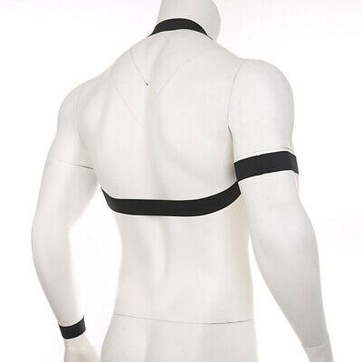 Herren Brust Harness Body Geschirr Männer Unterwäsche Erotik Clubwear Kostüm 4