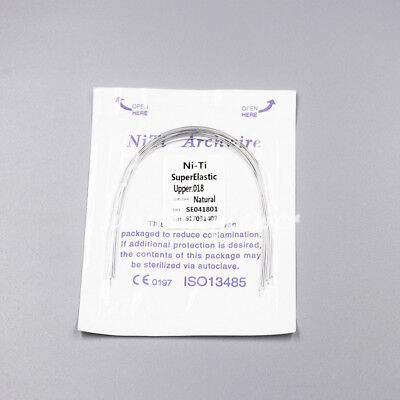 Dental Orthodontic Super Elastic Niti Round Arch Wire Natural Form 12-20 U/L 8