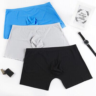 men underwear Boxer shorts Ice silk Seamless soft sexy male men's underpants 3