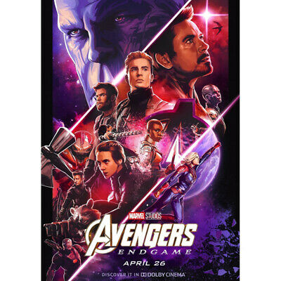 Avengers 4 & 3 Infinity War Movie Thanos Iron Man Kraft Paper Posters Picture 4