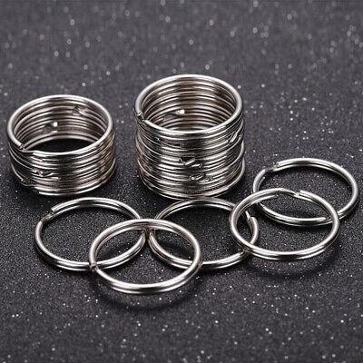 100Pcs Key Rings Chains Split Ring Hoop Metal Loop Steel Accessories 25mm |USA 4