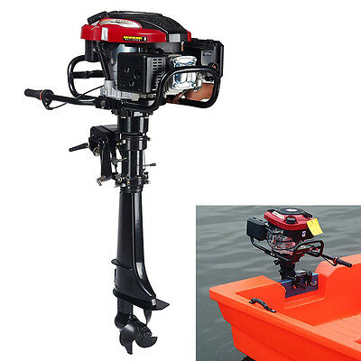 7 HP 4-Stroke Outboard Motor Transom Mount Boat Engine Air Cooling 196CC 8