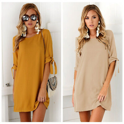 Sexy Womens Plus Size Long T-shirt Ladies Casual Party Mini Dress Blouse Tops 2