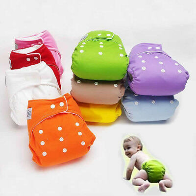 Lot Reusable Baby Infant Nappy Cloth Diaper Cover Washable Free Size Adjustable