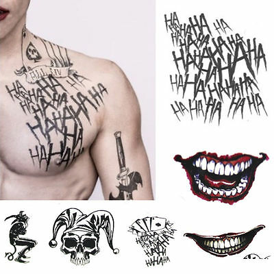 Halloween Batman The Joker Temporary Tattoos Suicide Squad Costume