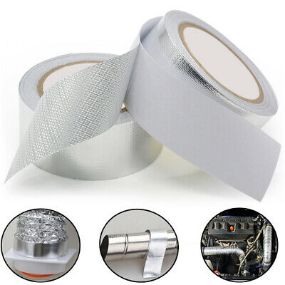 Aluminium Foil Tape Roll Self Adhesive Insulation Reflective Duct Silver 50mm 12
