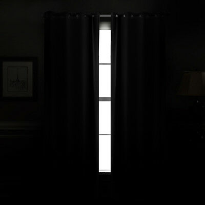 THERMAL BLACKOUT CURTAINS Eyelet Ring Top OR Pencil Pleat FREE Tie backs 10