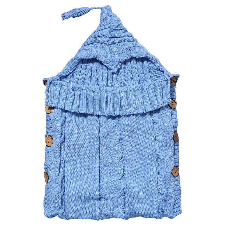 Infant Baby Kids Knitted Blanket Swaddle Sleeping Bag Sleep Sack Stroller Wrap 11