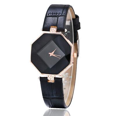 New Fashion Women 's Leather Band Analog Quartz Diamond Wrist Watch Watches 10