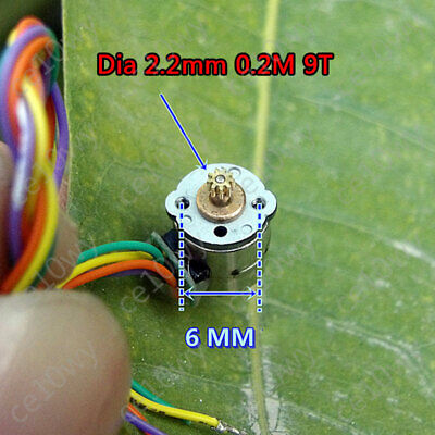 2x 8mm Mini Stepper Motor 2-phase 4-wire Micro Stepping Motor 0.2Mod 9T Gear 3