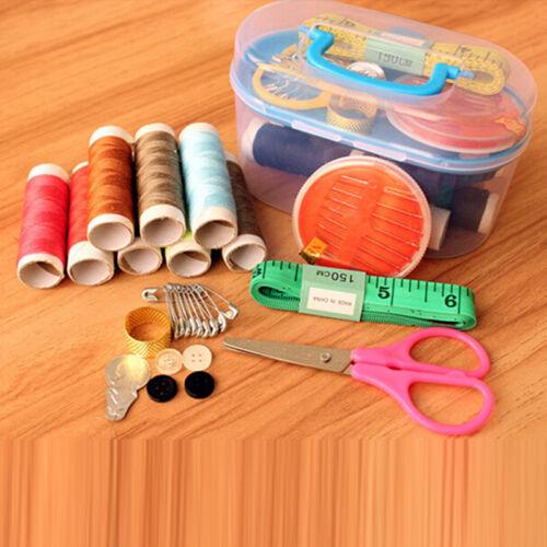 Home Travel Thread Threader Needle Tape Measure Scissor Storage Box Sewing Kit 5