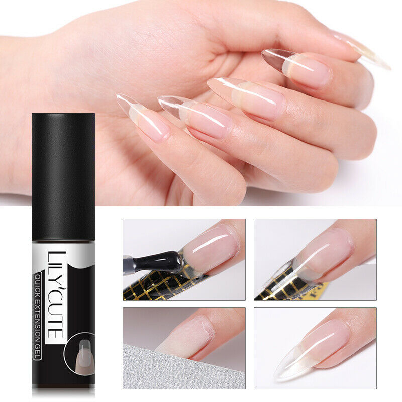 LILYCUTE Quick Extension UV Gel Nail Art Semi Permanent Vernis à ongles Tools 2