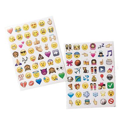 4 Pcs Schöne Emoji Lächeln Smiley Aufkleber Für Notebook Sticker Spielzeug DIY 3