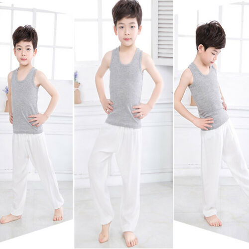 Kids Girls Boys Harem Loose Trousers Baggy Bloomer Pants Children Dance Bottoms 8