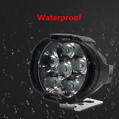 New 2 Pcs Car Motorcycle Waterproof LED External Lights Fog Light Headlight Lamp
