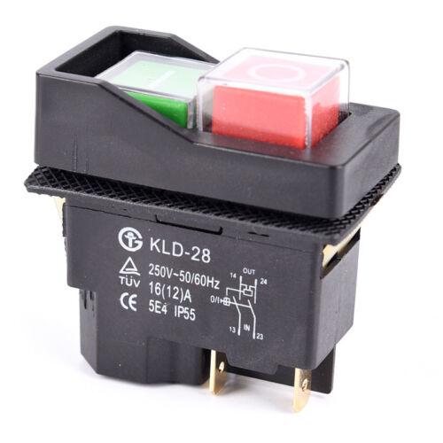 MC130 bétonnière 230 V électrique 240 V On Off Switch fit belle Mastermix MC110
