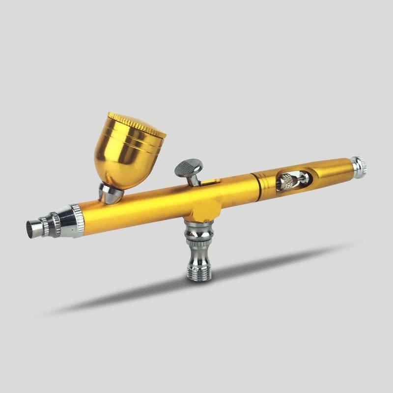 Dual Action Gravity Feed 0.3mm Spray Airbrush Gun Nail Art Paint Tattoo ToolˉL!Y