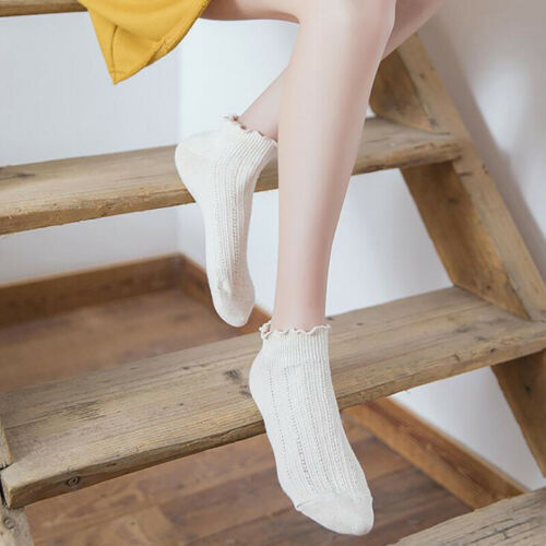 Spring Fashion Women Solid Color Thin Section Curling Summer Socks Loose Socks N 4