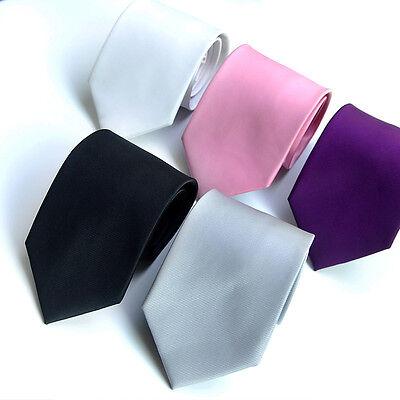 Men' Women Skinny Slim Tie Solid Color Plain Silk Necktie 5cm Unique Ties
