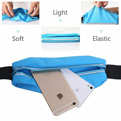 Sports Running Belt Waist Pocket Cycling Jogging Travel Wallet For Smart Phone 4