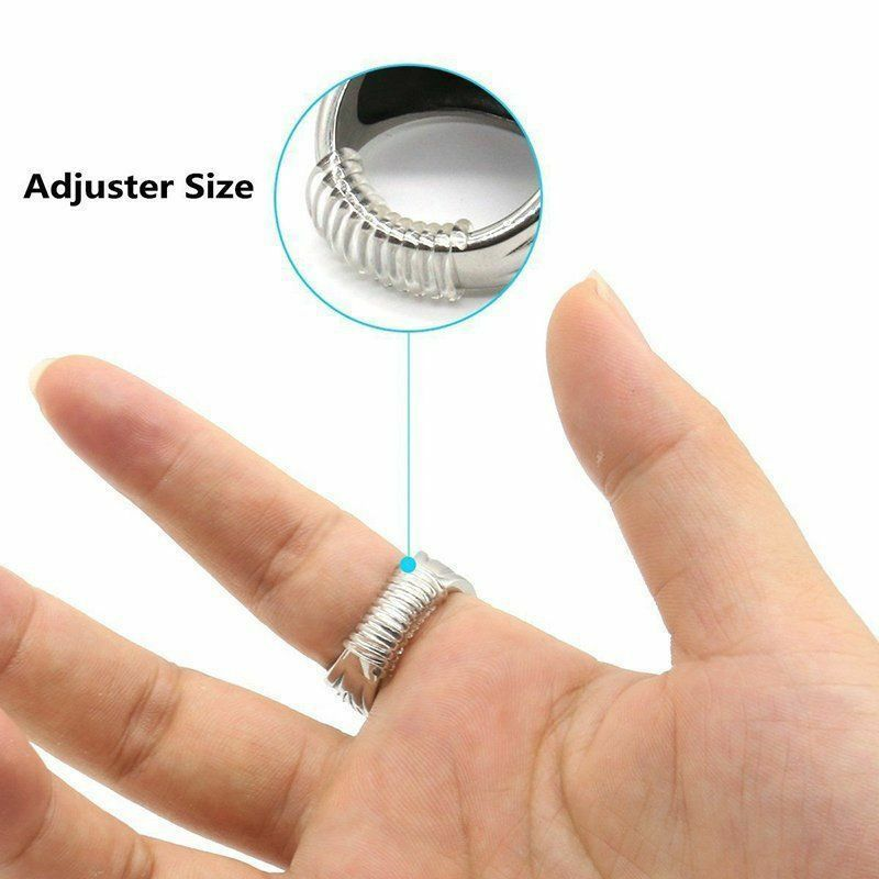 Ring Size Reducer Resizer Adjuster 6pcs Ring Size Clip Guard Invisible Design