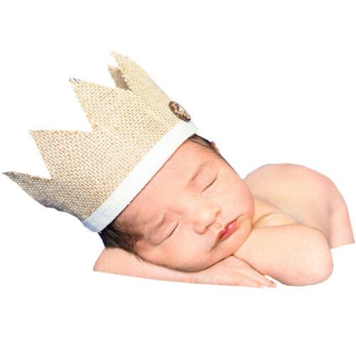 Infants Newborn Baby Fashion Crown Hat Photo Photography Prop Headwear LD 2