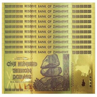 100 Trillion Zimbabwean Dollar Commemorative Banknote Non-currency Collection 4