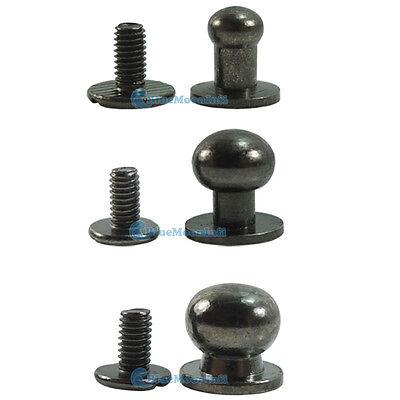 Head Button Stud Screwback Leather Screw brass 4mm 5mm 6mm 8mm 9mm 10mm 12mm