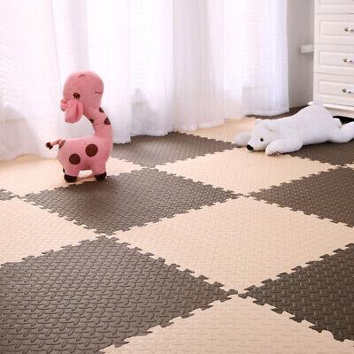 4 Tiles Home Yoga Gym Fitness Interlock EVA Foam Floor Mat Puzzle Baby Kids Play 6