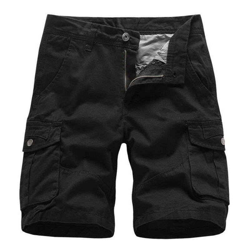 Mens Cargo Combat Work Shorts Trousers Army Military Hiking Camping Half Pants 11