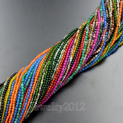 2mm Natural Gemstones Round Spacer Seed Beads 15.5'' Jewelry Design Craft Making