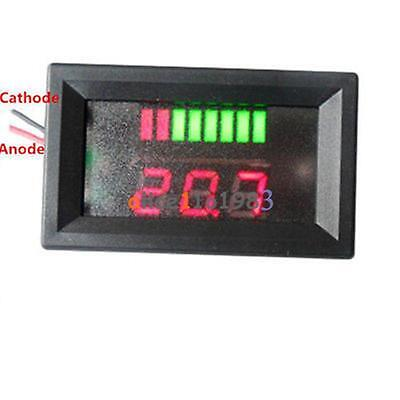 1PCS 6V Lead-acid Battery Charge Level Indicator Voltmeter Stable Red COLOUR