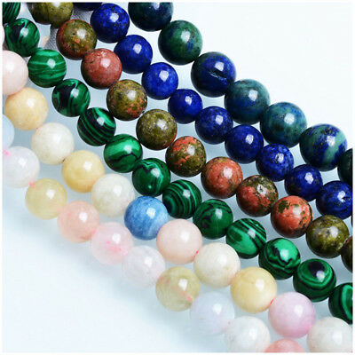 Wholesale Natural Gemstone Round Spacer Loose Beads For Bracelets Jewelry Making 5