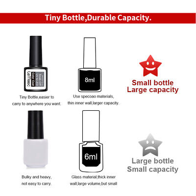 8ml Multi Design LEMOOC Cat Eye Gel Nail Polish Base Coat Glitter Soak-off Gel 6